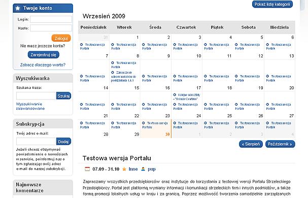 Dział Kalendarza przedsiębiorcy